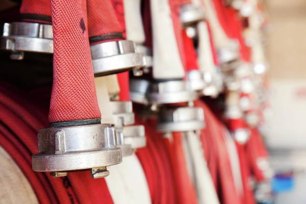 Fire Station Photograph - Fire Hoses by Wladimir Bulgar/science Photo Library
