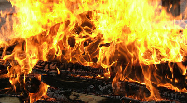 Photograph - Fire by HW Kateley