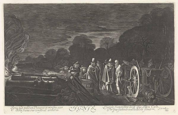 Wall Art - Drawing - Fire Ignis, Print Maker Jan Van De Velde II by Artokoloro
