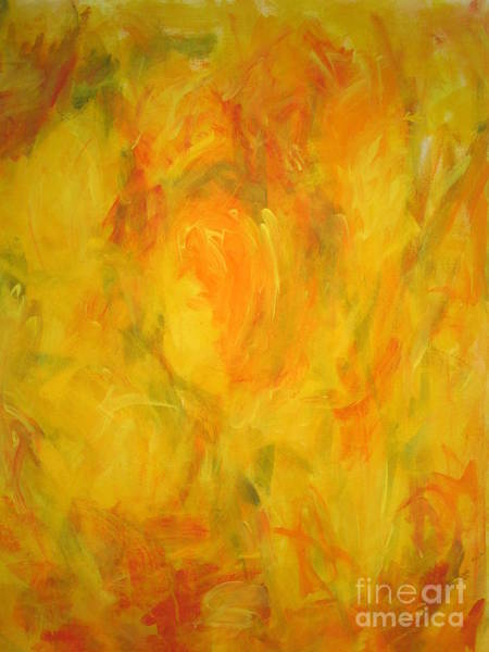 Wall Art - Painting -  The Golden Fall by Fereshteh Stoecklein