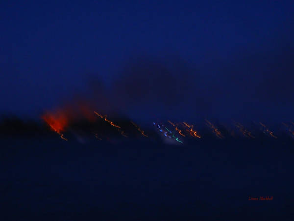 Wall Art - Photograph - Fire In The Night by Donna Blackhall