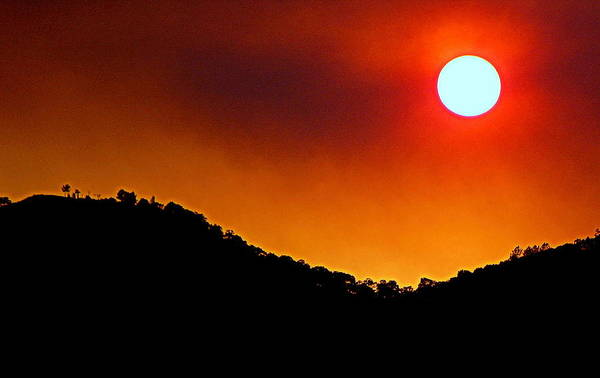 Photograph - Fire In The Sky by AJ  Schibig