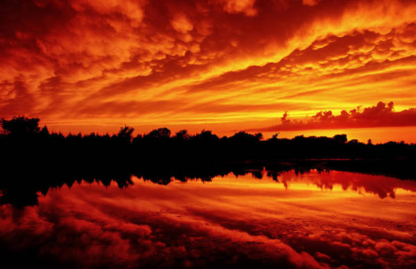 Photograph - Fire In The Sky by Jason Politte