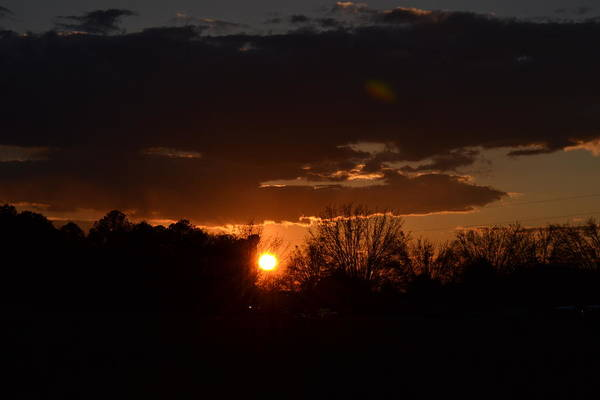 Rockdale County Photograph - Fire In The Sky by Tara Potts