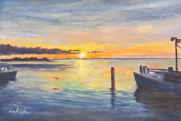 Wall Art - Painting - Fire Island Sunset  by Jean Costa