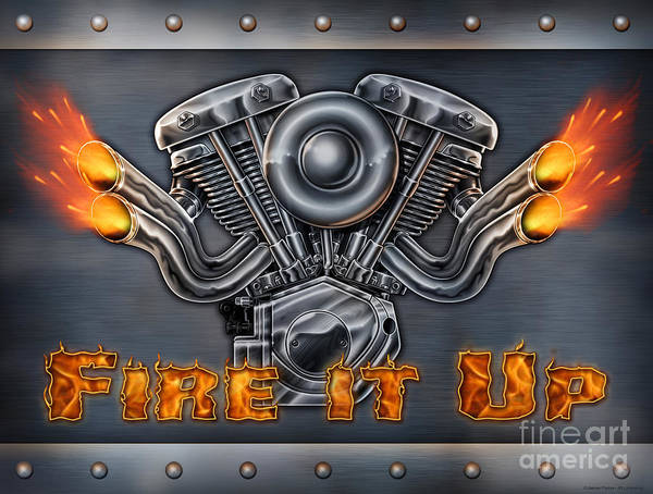 Painting - Fire It Up by JQ Licensing