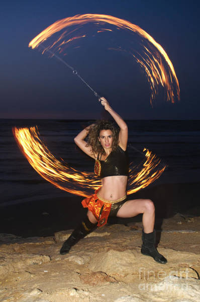 Juggler Photograph - Fire Juggler  by Ilan Rosen