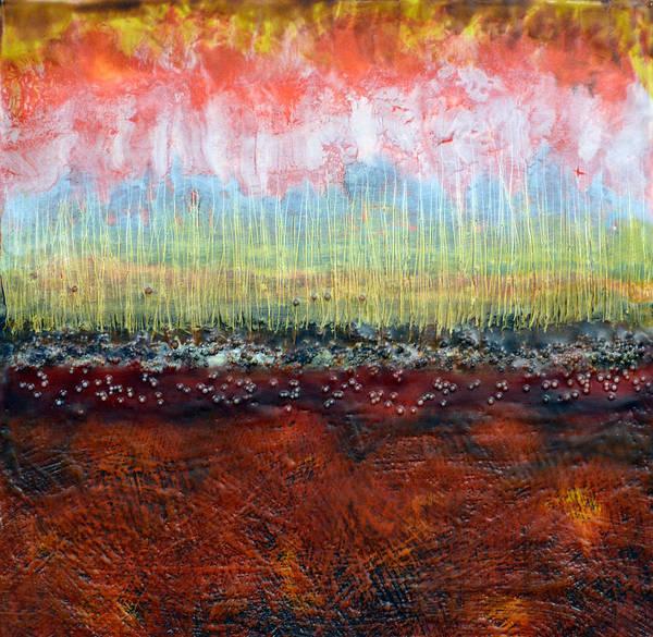 Wall Art - Painting - Fire Land 1 by Leyla Munteanu