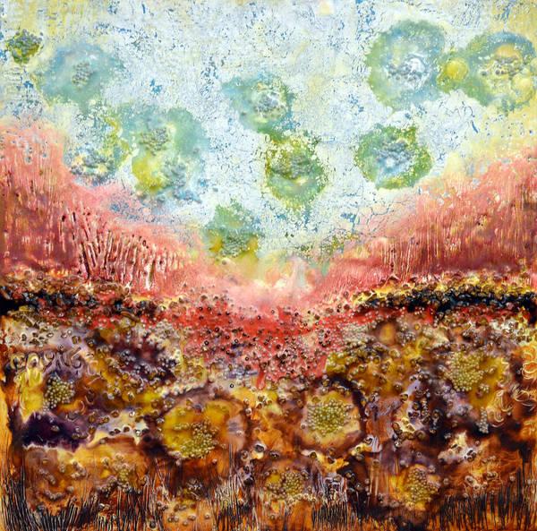 Wall Art - Painting - Fire Land 3 by Leyla Munteanu