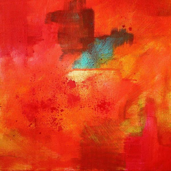 Non Representational Painting - Fire Light by Nancy Merkle