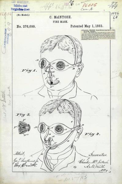Fire Mask Patent Art Print