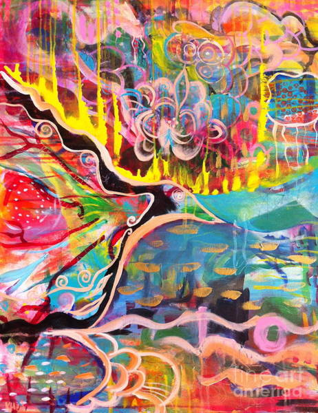 Wall Art - Painting - Fire Of Transformation by Kim Heil