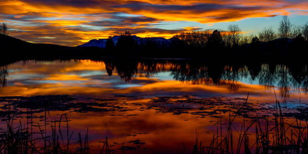 Photograph - Fire On The Water by TL  Mair