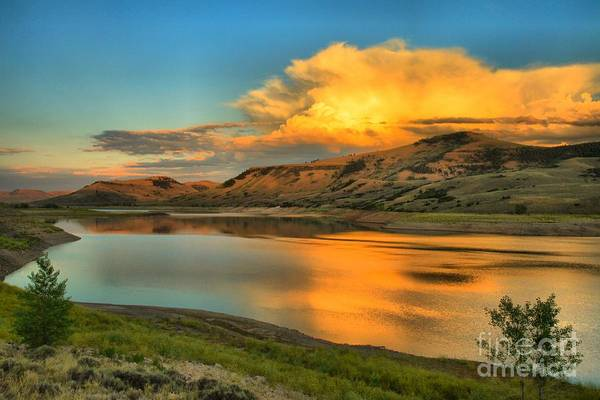 Photograph - Fire Over Blue Mesa by Adam Jewell