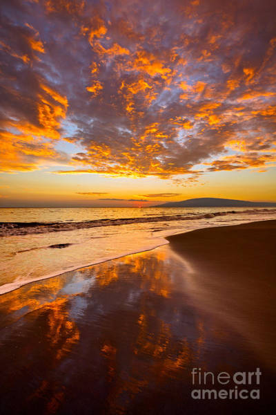 Maui Sunset Wall Art - Photograph - Fire Over Lahaina by Jamie Pham