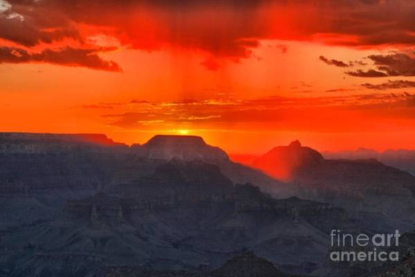 Mather Point Photograph - Fire Over Mather Point by Adam Jewell