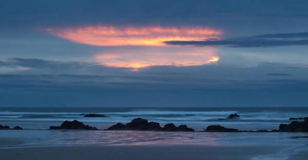 Photograph - Fire Over The Ocean by HW Kateley