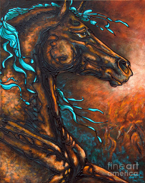 Painting - Fire Run by Jonelle T McCoy