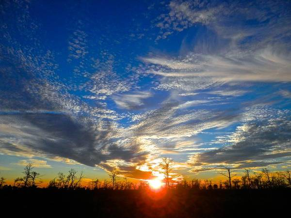 Disappearance Photograph - Fire Sky Sunset by Joe Wyman