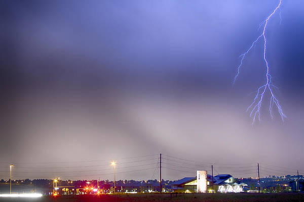 Wall Art - Photograph - Fire Station Lightning Strike by James BO Insogna