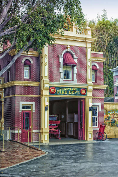 Clothier Photograph - Fire Station Main Street Disneyland 01 by Thomas Woolworth