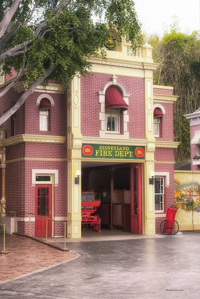 Clothier Photograph - Fire Station Main Street Disneyland 02 by Thomas Woolworth