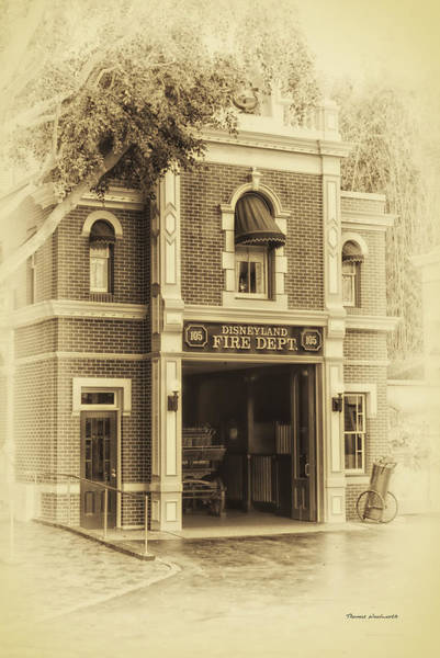 Clothier Photograph - Fire Station Main Street Disneyland Heirloom by Thomas Woolworth