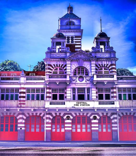 Digital Art - Fire Station by Ray Shiu