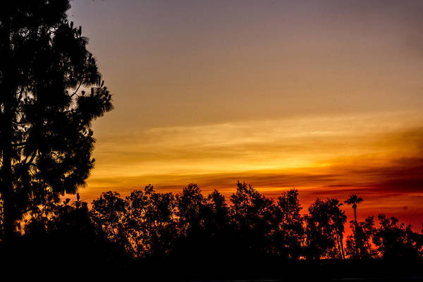 Digital Art - Fire Sunset  by Photographic Art by Russel Ray Photos