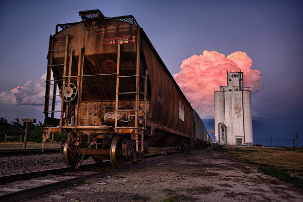 Tx Photograph - Fire Train by Thomas Zimmerman