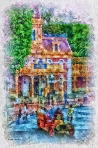 Clothier Photograph - Fire Truck Main Street Disneyland Photo Art 01 by Thomas Woolworth