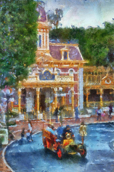Clothier Photograph - Fire Truck Main Street Disneyland Photo Art 02 by Thomas Woolworth