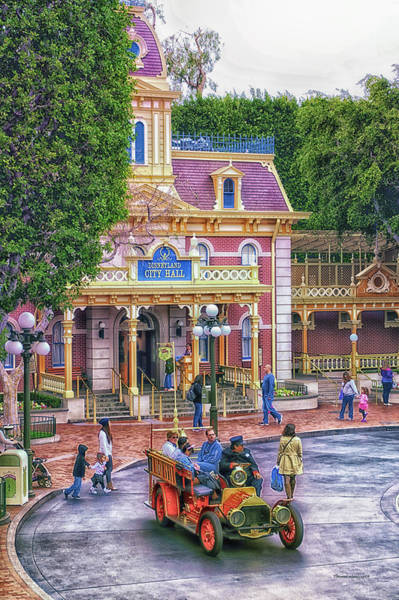 Clothier Photograph - Fire Truck Main Street Disneyland by Thomas Woolworth