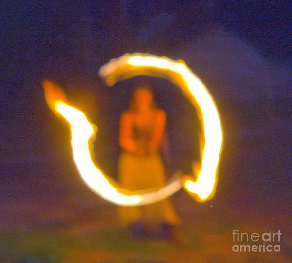 Fire Twirler Alone Art Print
