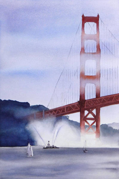 Fireboat Wall Art - Painting - Fireboat In The San Francisco Bay by Janaka Ruiz