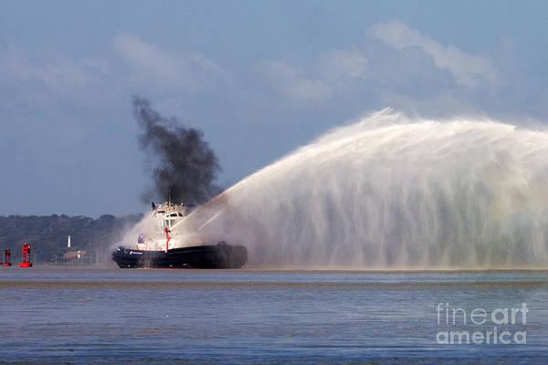 Fireboat Wall Art - Photograph - Fireboat Tug by Bob Hislop