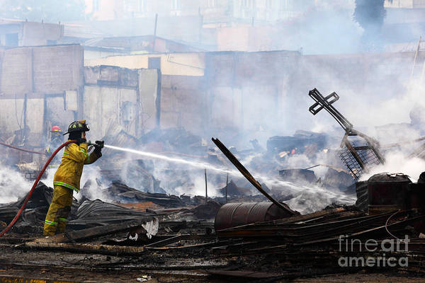 Photograph - Firefighting Crusader by James Brunker