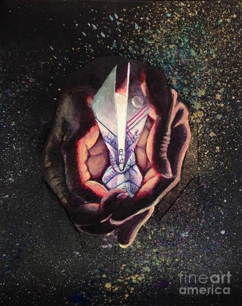 Origami Painting - Firefly by Sadeyedartist Baltimore