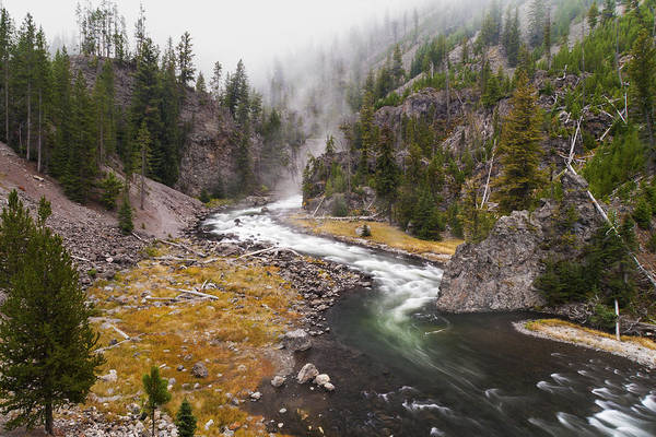 Yellowstone Canyon Photograph - Firehole Canyon - Yellowstone by Brian Harig