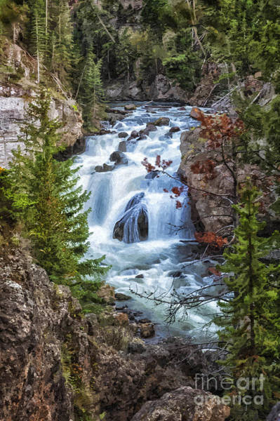 Photograph - Firehole Falls by Sophie Doell