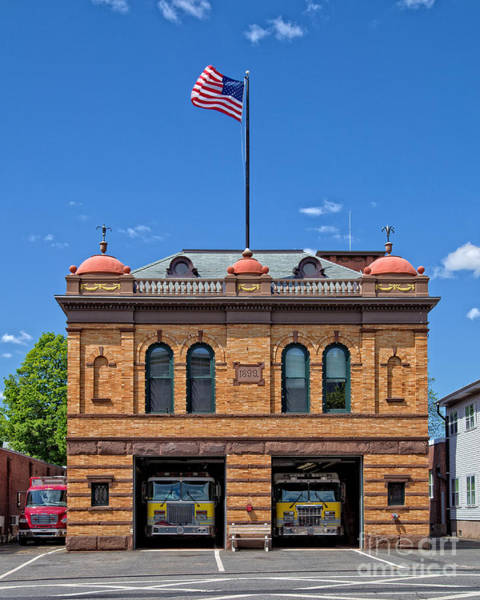 Fire Station Photograph - Firehouse Middletown Connecticut by Edward Fielding
