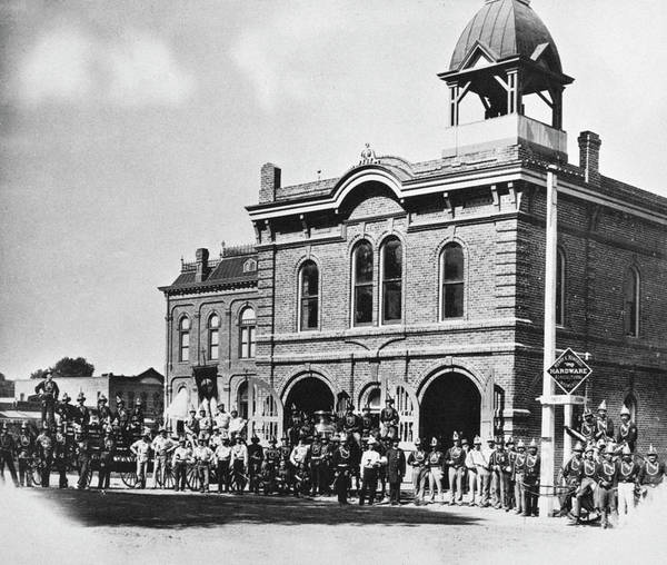 Photograph - Firehouse Phoenix, 1897 by Granger