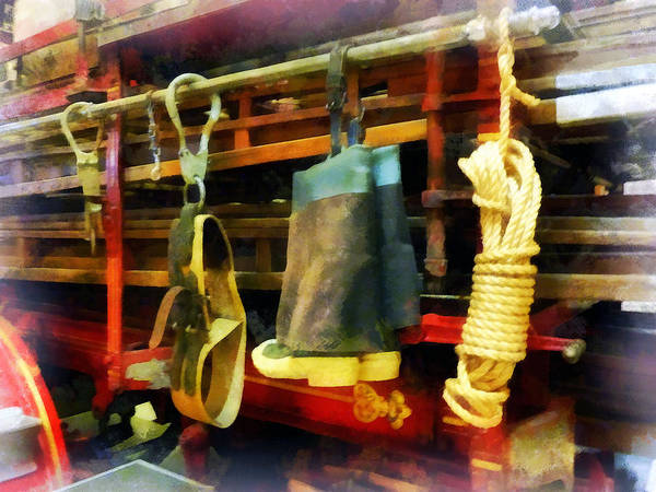 Photograph - Fireman - Boots And Fire Gear by Susan Savad