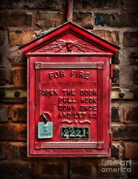 Wall Art - Photograph - Fireman - Fire Alarm Box - Out Of Service by Paul Ward