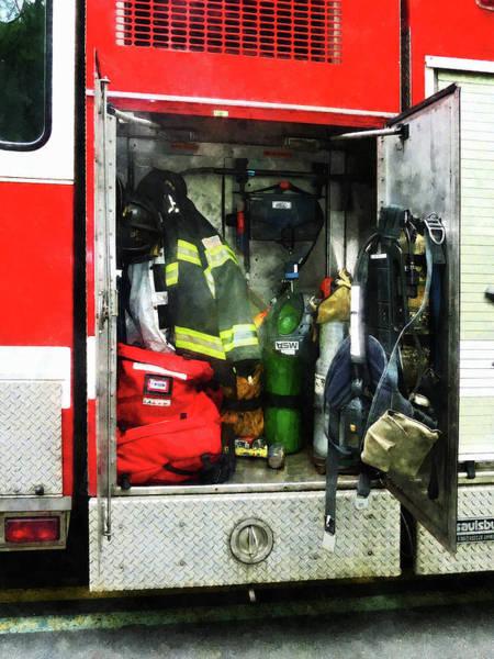 Photograph - Fireman - Fire Fighting Gear by Susan Savad