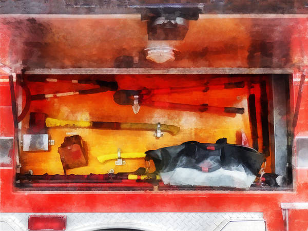 Photograph - Fireman - Firemen's Tools Of The Trade by Susan Savad