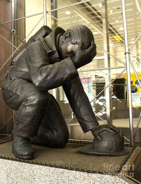 Photograph - Fireman Memorial by Gregory Dyer
