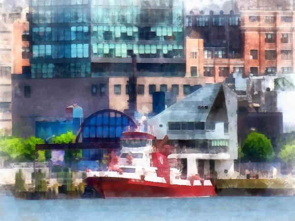 Photograph - Fireman - New York Fire Boat by Susan Savad