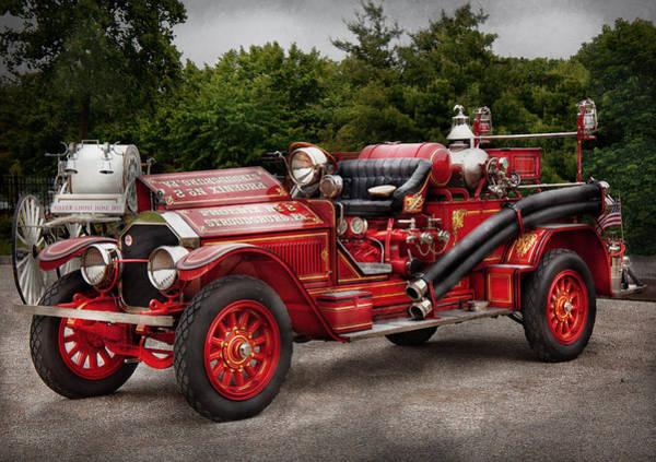Photograph - Fireman - Phoenix No2 Stroudsburg Pa 1923  by Mike Savad