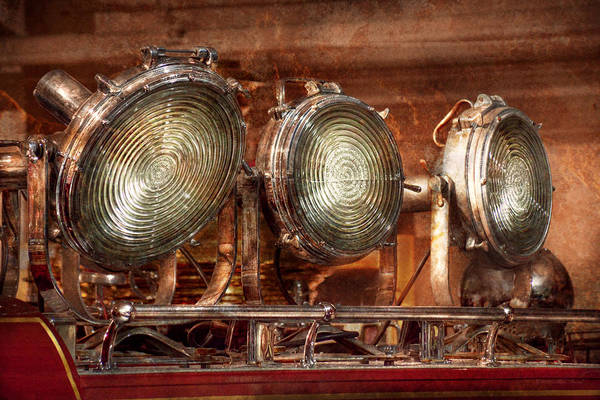 Photograph - Fireman - Search Lights  by Mike Savad